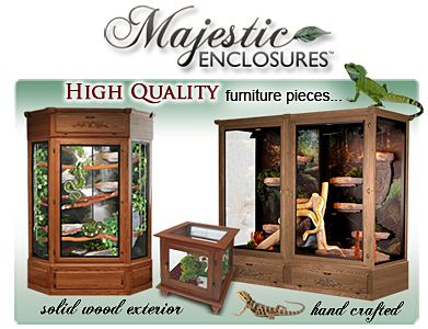 Reptile Wood Cages and Enclosures
