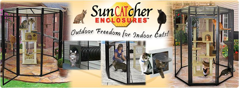 Outdoor Cat Condos, Cages and Enclosures