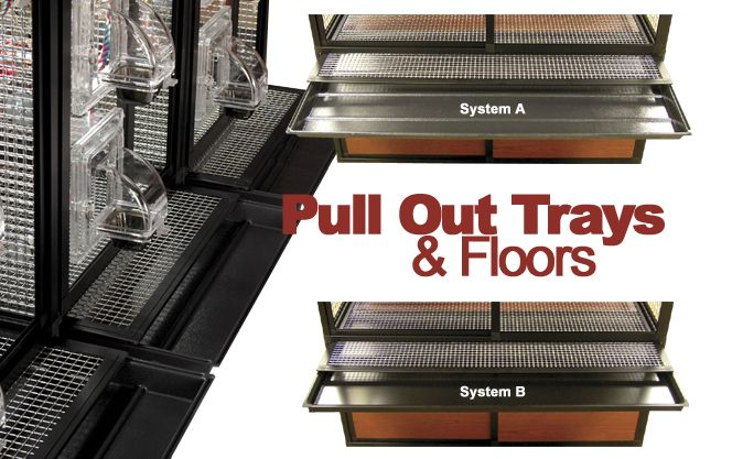 bird pull out floor and pull out trays