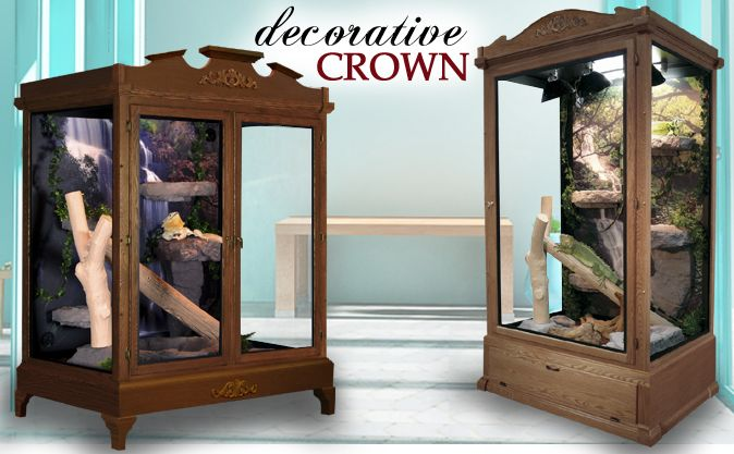 Decorative Reptile Cage Crown Molding