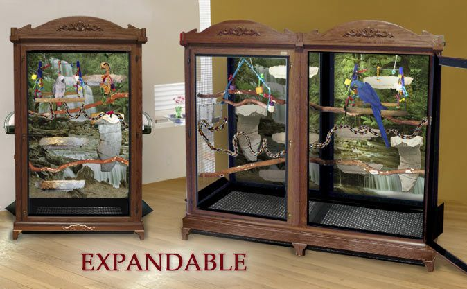 Expandable Wood Aviary