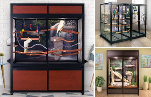 hybrid bird & reptile cages
