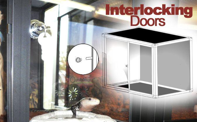 & Interlocking Reptile Cage Doors pezcame.com