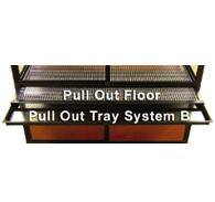 pull out floor tray system