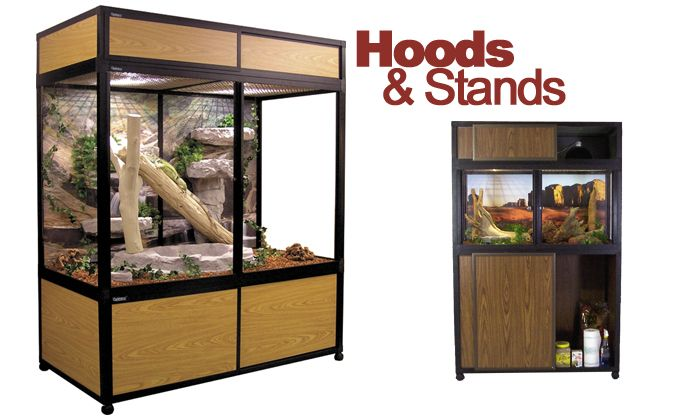 Reptile Cage Hoods And Stands