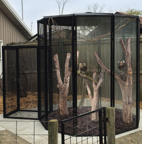 Monkey Cages for Zoos - Custom Cages