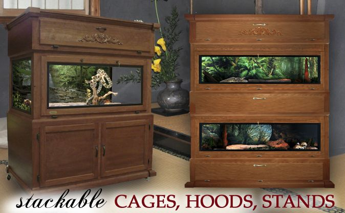Majestic Stackable Reptile Cages, Hoods & Stands
