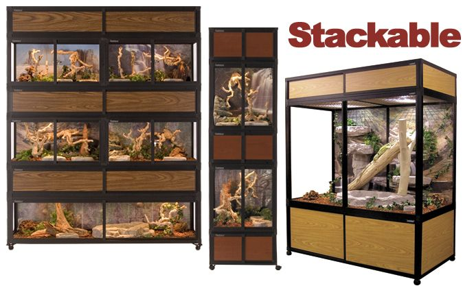 Hybrid Stackable Reptile Cages