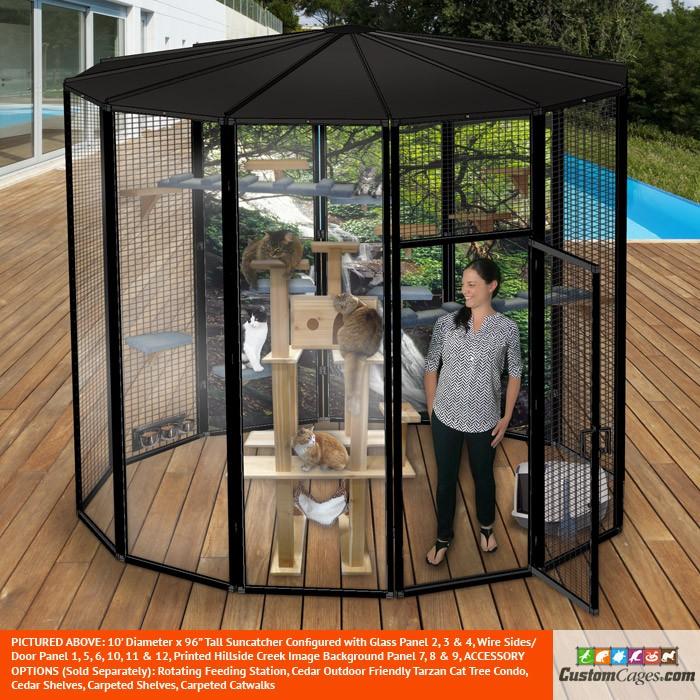 10' Diameter Indoor/Outdoor Cat Cage