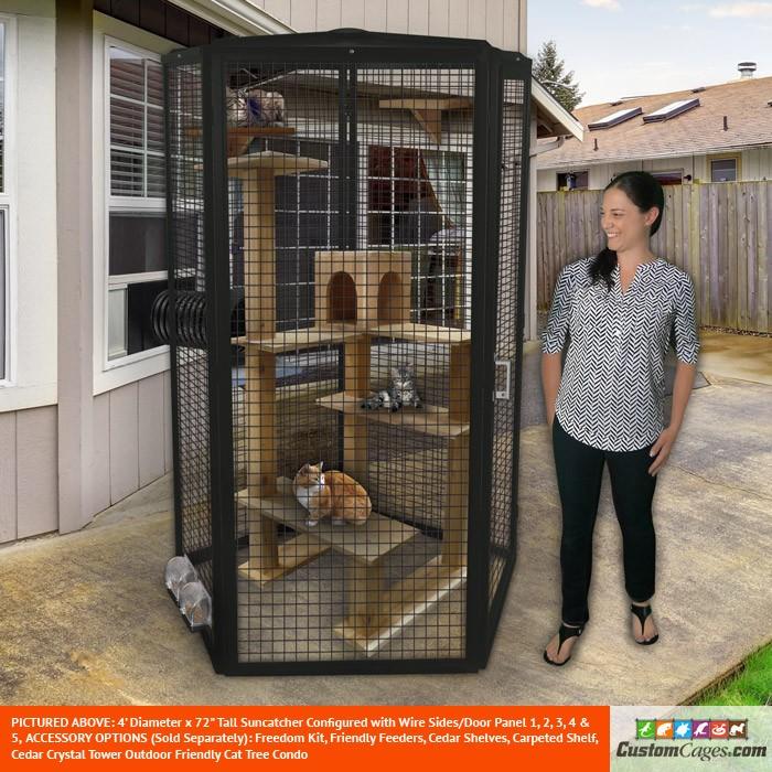 4' Diameter Indoor/Outdoor Cat Cage
