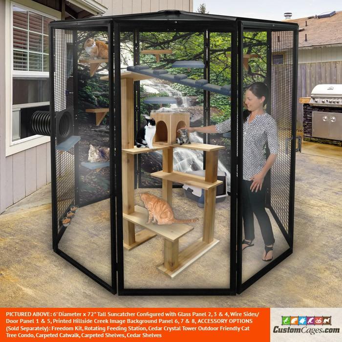 6' Diameter Indoor/Outdoor Cat Cage