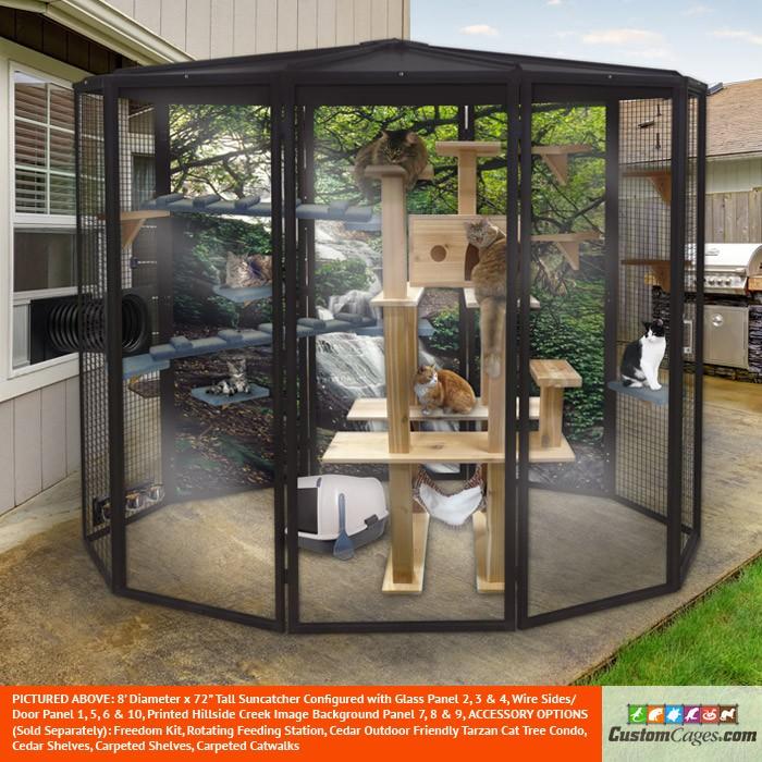 8' Diameter Indoor/Outdoor Cat Cage
