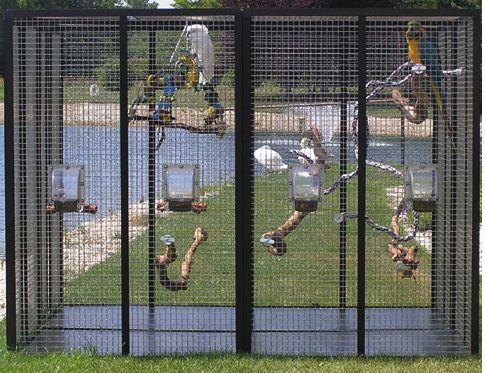 "HO2 Outdoor Bird Cage 72""H x 96""L x 96""D H3"