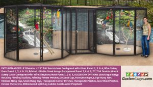 """8' Diameter x 72"""" Tall Large Double Bird Cage 1"""
