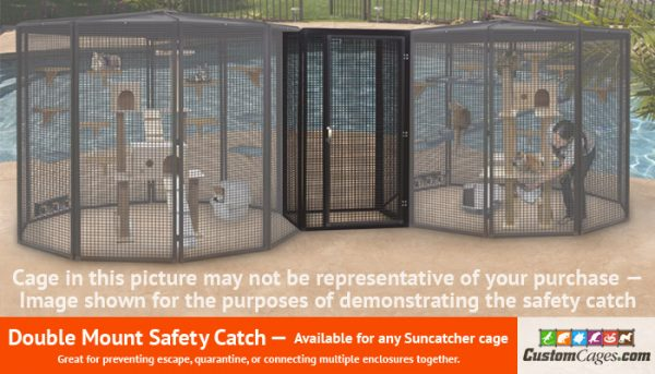 """8' Diameter x 72"""" Tall Large Double Cat Cage - Safety Catch"""