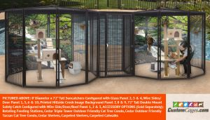 """8' Diameter x 72"""" Tall Large Double Cat Cage"""