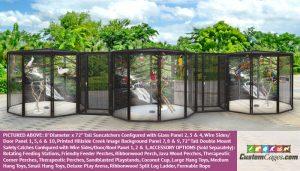 "8' Diameter x 72"" Tall Large Triple Bird Cage - 1"