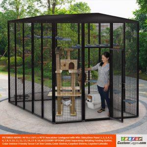"96""H x 150""L x 90""D Large Outdoor Cat Cage - 1"