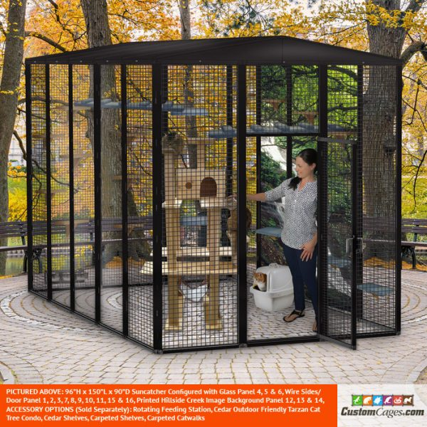 "96""H x 150""L x 90""D Large Outdoor Cat Cage - 2"