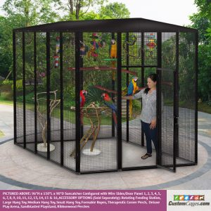 """96""""H x 150""""L x 90""""D Large Outdoor Bird Cage - 1"""