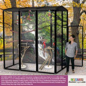"""96""""H x 90""""L x 60""""D Large Outdoor Bird Cage - 1"""
