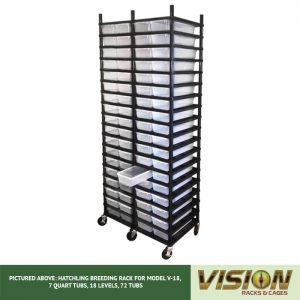 18 Level Hatchling Rack (for Qty. 72, Model V-18, 7 Quart Tubs)