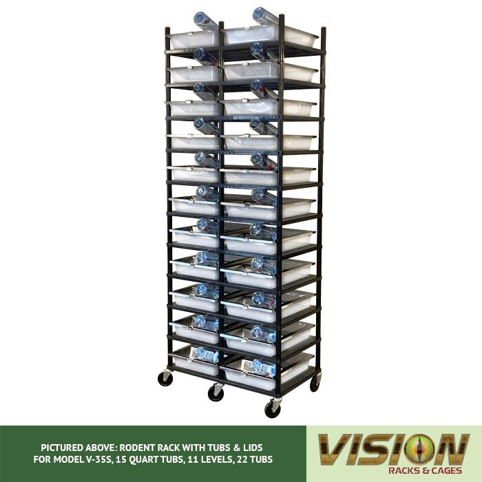 v-35s hatchling rodent breeding racks