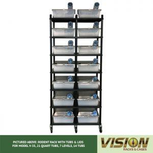7 Level Rodent Breeding Rack (for Qty. 14, Model V-35, 21 Quart Tubs)