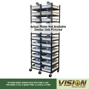 10 Level Rodent Breeding Rack (for Qty. 20, Model V-35s, 15 Quart Tubs)